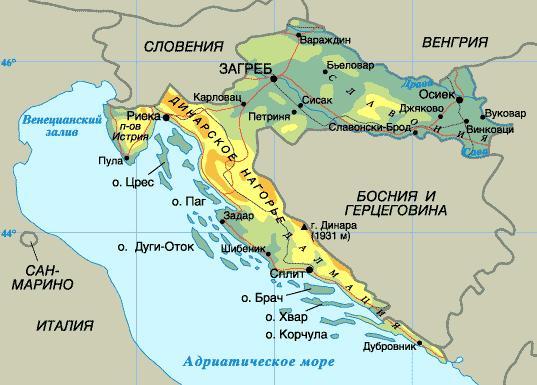 Karta Horvatii
