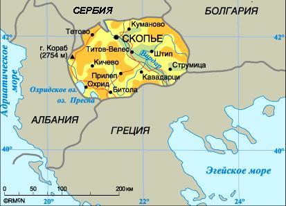 Karta Makedonii
