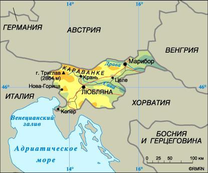 Karta Slovenii