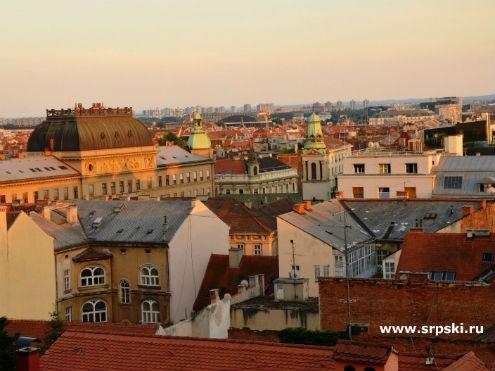 Вид на Нижний город Загреба