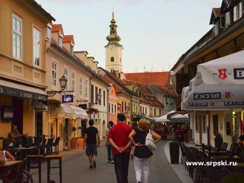 Улицы старого Верхнего города Загреба